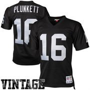 Mens Oakland Raiders Jim Plunkett Mitchell & Ness Black Retired Player Vintage Replica Jersey