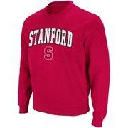 Stanford Cardinal  Arch Logo Crew Sweatshirt - Cardinal