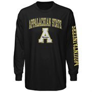 Mens Appalachian State Mountaineers Black Arch & Logo Long Sleeve T-Shirt