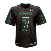 Mens Hawaii Warriors No.7 Under Armour Black Replica Football Jersey