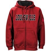 Louisville Cardinals Red Classic Twill Full Zip Hoodie Sweatshirt
