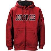 Louisville Cardinals Red Classic Twill Full Zip Hoodie Sweatshirt