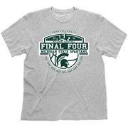 Men's Gray Michigan State Spartans 2015 NCAA Men's Basketball Tournament Final Four Bound The Years T-Shirt