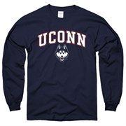 UConn Huskies Midsize Long Sleeve T-Shirt - Navy Blue