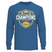 Mens UCLA Bruins  True Blue 2015 Valero Alamo Bowl Champions Long Sleeve T-Shirt