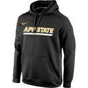 Appalachian State Mountaineers Nike KO Chain Fleece Performance Hoodie - Anthracite