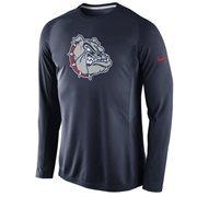 Men's Nike Navy Blue Gonzaga Bulldogs Disruption 2015 Basketball Shooting Dri-FIT Long Sleeve Shirt