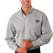 Kansas State Wildcats Velocity Oxford Shirt - Gray