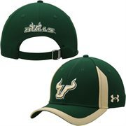 Mens South Florida Bulls Under Armour Green Sideline Touchback Adjustable Hat