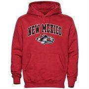 Mens Cherry New Mexico Lobos Arch Over Logo Hoodie