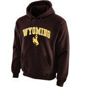 Wyoming Cowboys Midsize Arch Pullover Hoodie - Brown