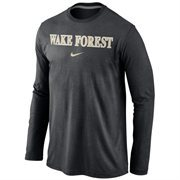 Wake Forest Demon Deacons Nike Wordmark Long Sleeve T-Shirt - Black