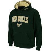 Mens South Florida Bulls Green Classic Arch Logo Twill Hoodie