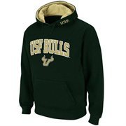 Mens South Florida Bulls Green Classic Arch Logo Twill Hoodie