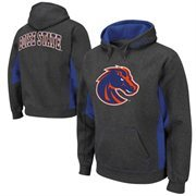 Boise State Broncos Turf Fleece Pullover Hoodie - Charcoal