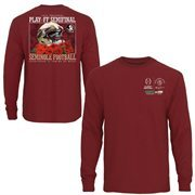 Mens Florida State Seminoles  Garnet 2015 College Football Playoff Rose Bowl Bound Long Sleeve T-Shirt