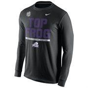 Mens TCU Horned Frogs Nike Black 2014 Peach Bowl Champions Locker Room Long Sleeve T-Shirt