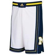 Mens Michigan Wolverines adidas White Point Guard Basketball Shorts