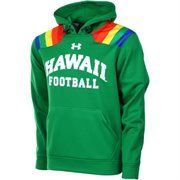 Mens Hawaii Warriors Under Armour Green 2.0 Pullover Hoodie