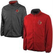 Men's Louisville Cardinals Charcoal Reversible Jacket