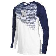 Mens Xavier Musketeers Nike Navy Blue Shooting Performance Long Sleeve T-Shirt