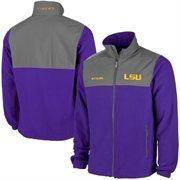 Men's LSU Tigers Columbia Purple Fast Tech Overlay Fleece