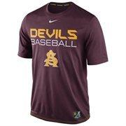 Mens Nike Maroon Arizona State Sun Devils Baseball Team Issue Legend Performance T-Shirt