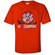 Mens Clemson Tigers  Orange 2014 Russell Athletic Bowl Champions Locker Room T-Shirt