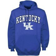 Mens Royal Kentucky Wildcats Arch Over Logo Hoodie