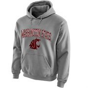 Washington State Cougars Midsize Arch Pullover Hoodie - Gray