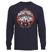 Men's Navy Blue Virginia Cavaliers 2015 Men's Basketball ACC Regular Season Champs Long Sleeve T-Shirt