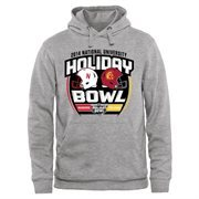 Mens Nebraska Cornhuskers vs. USC Trojans Ash 2014 National University Holiday Bowl Dueling Pullover Hoodie