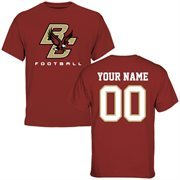 Boston College Eagles Personalized Football T-Shirt - Maroon
