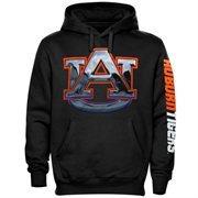Auburn Tigers Chrome Logo Hoodie - Black