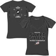 Women's Charcoal 2015 NCAA Men's Basketball Tournament Sweet 16 V-Neck T-Shirt