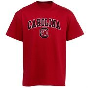 Mens Garnet South Carolina Gamecocks Arch Over Logo T-Shirt