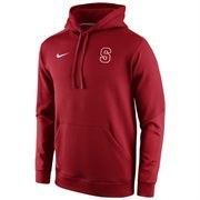 Mens Stanford Cardinal Nike Red 2014 Sideline KO Chain Fleece Therma-FIT Hoodie