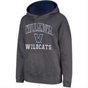 Villanova Wildcats Arch & Logo Mascot Pullover Hoodie - Charcoal