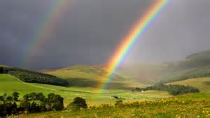 BBC News - In pictures: Scottish Borders Tweed Valley rainbows